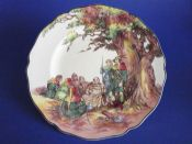 Royal Doulton Under the Greenwood Tree (Robin Hood) Series 'Friar Tuck Makes Merry' Rack Plate c1949